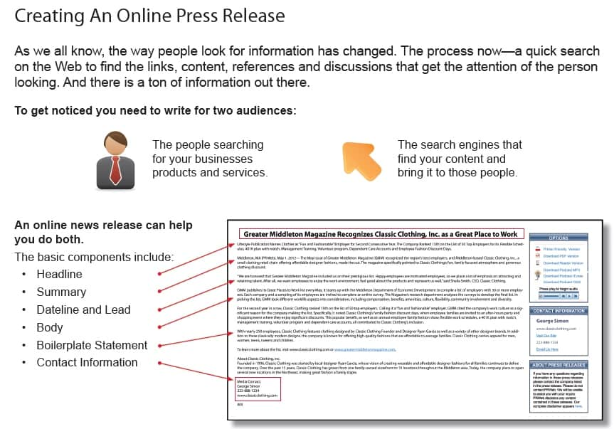 Creating a press release001